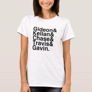 T-shirt Réservez l'ami Gideon, Kellan, chasse, Travis…