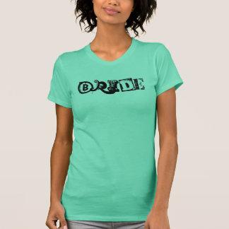 T-shirt Réservoir de jeune mariée de LAUNDRYMAT (noir sur