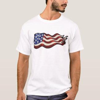 T-shirt Réservoir de ondulation de drapeau américain