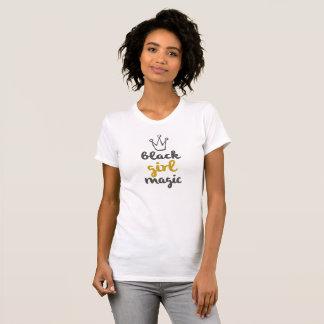 T-shirt Réservoir noir de magie de fille d'or
