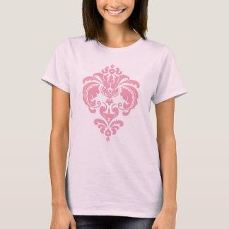 T-shirt réservoir rose de damassé