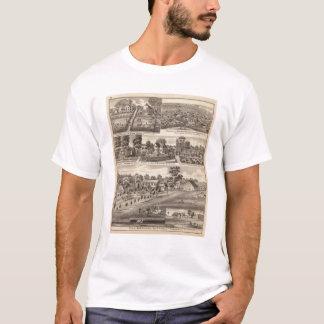 T-shirt Résidences et fermes en Edgar, Hardin, Massac