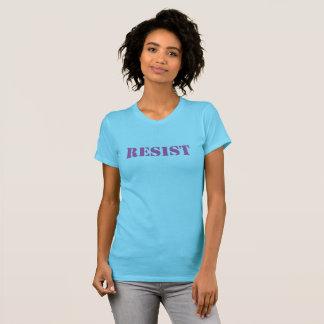 T-shirt RÉSISTEZ - au T-shirt, femmes roses sur l'aqua