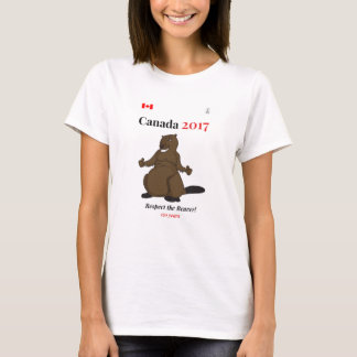 T-shirt Respect de castor du Canada 150 en 2017