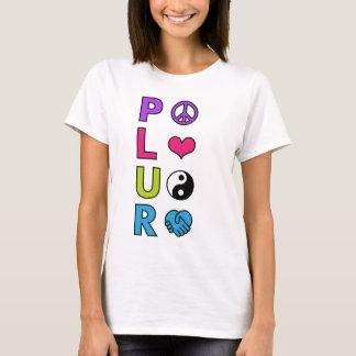 T-shirt Respect d'unité d'amour de paix de PLUR