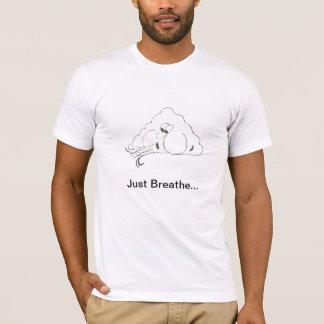 T-shirt Respirez juste la chemise des hommes