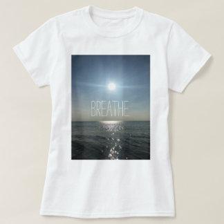 T-shirt Respirez la chemise de coucher du soleil