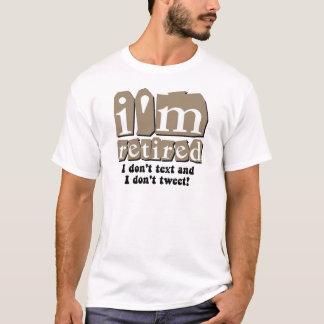 T-shirt Retraite drôle de bip des textes