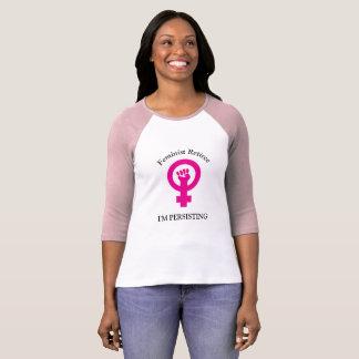 T-shirt Retraité féministe rose | je persiste