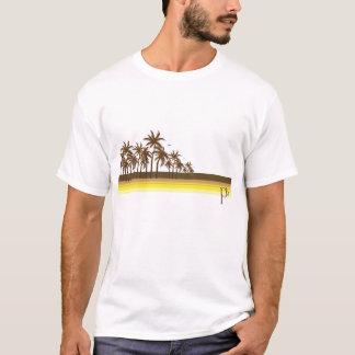 T-shirt Rétro 80s Brown/paumes d'or