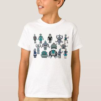 T-shirt Rétro amant de robot pour des enfants ! Amusement,