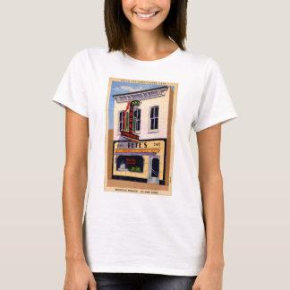 T-shirt Rétro avantage vintage du café de Peter de carte