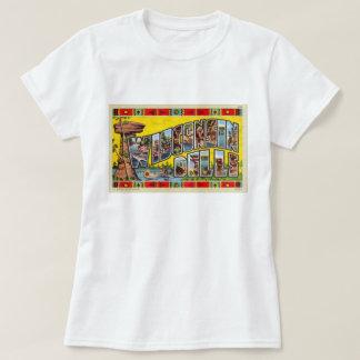 T-shirt Rétro carte postale vintage de vallons du