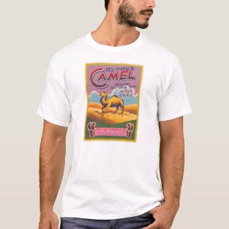 T-shirt Rétro chameau vintage d'étiquette de pétard de
