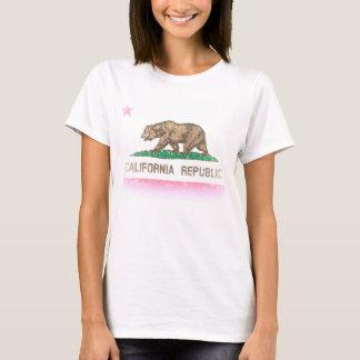 T-shirt Rétro drapeau fané de la Californie