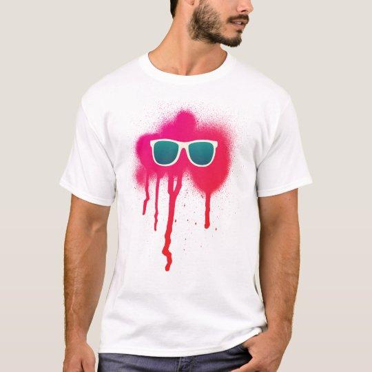 T-shirt Rétro éclaboussure de lunettes de soleil