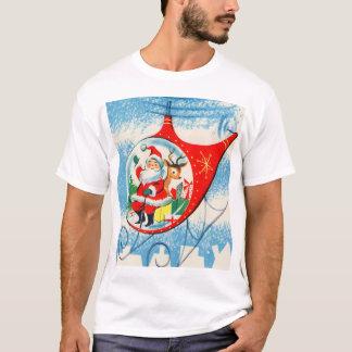 T-shirt Rétro hélicoptère vintage Père Noël de publicité