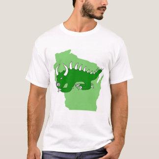 T-shirt Rétro Hodag au-dessus du Wisconsin