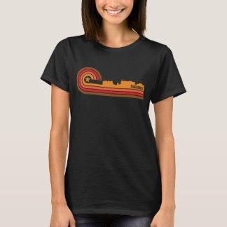 T-shirt Rétro horizon de Fairbanks Alaska de style