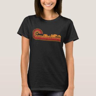 T-shirt Rétro horizon de Fairbanks Alaska de style affligé