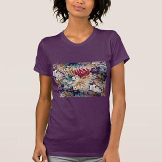 T-shirt Rétro motif de fleur tropical