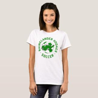 T-shirt Rétro pièce en t de femmes du football de Hodag -
