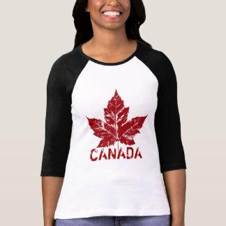 T-shirt Rétro souvenir frais de feuille d'érable du Canada