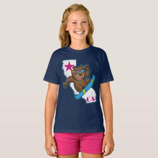 T-shirt Rétro surfeur d'ours de la Californie d'amusement