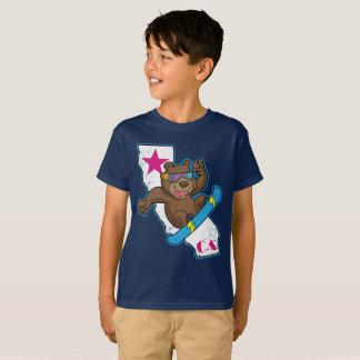 T-shirt Rétro surfeur mignon d'ours de la Californie