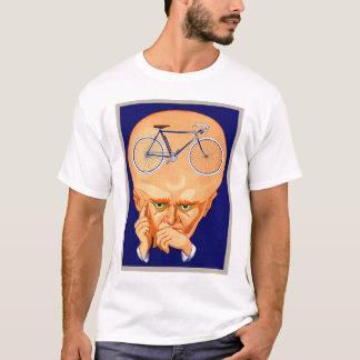 T-shirt Rétro tête vintage de bicyclette de kitsch