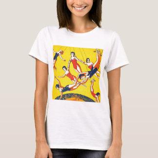 T-shirt Rétros artistes de trapèze vintages de cirque de