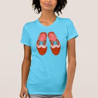 T-shirt Rétros chaussures rouges