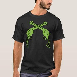 T-shirt Rétros pistolets verts
