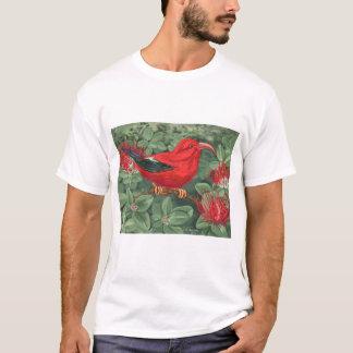 T-shirt Réunion Pacifique - fougère et oiseau