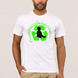 T-shirt Réutilisez la chemise d'enfants
