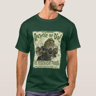T-shirt Réutilisez ou mourez des grenouilles
