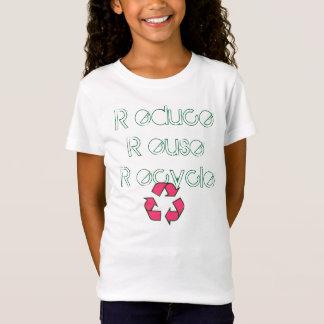 T-Shirt réutilisez, R educe l'ecycle de l'euse R de R