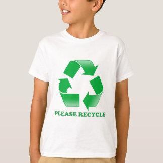 T-shirt Réutilisez svp. Réutilisation de la conscience.