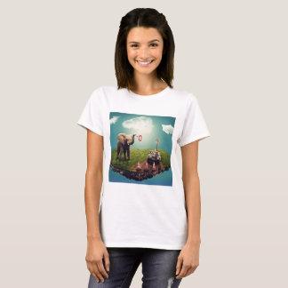 T-shirt Rêve d'éléphant et de girafe
