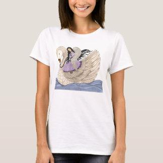 T-shirt Rêves doux (l'ange et le cygne) (polychromes)