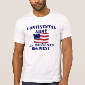 T-shirt révolutionnaire de régiment du Maryland de