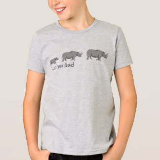 "T-shirt Rhinocéros ""noir "" de Luther rouge"