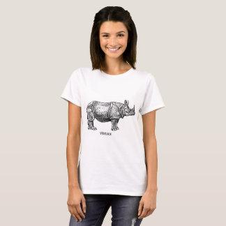 T-shirt Rhinocéros végétalien