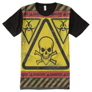 T-shirt riant de crâne de bio risque