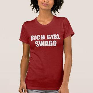 T-shirt riche de Swagg de fille