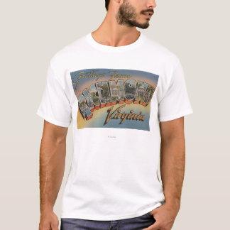T-shirt Richmond, la Virginie - grandes scènes 2 de lettre