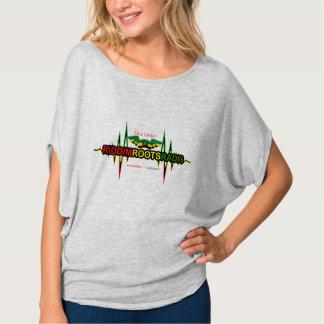T-shirt Riddim enracine le dessus de cercle de Flowy des