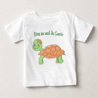 """T-shirt """"Rien ne sert de courir"""" Tortue bébé"""