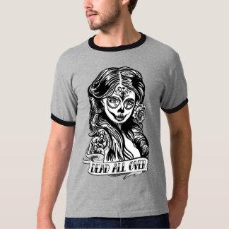 T-shirt Ringer Crâne Mexicana Dead All Over