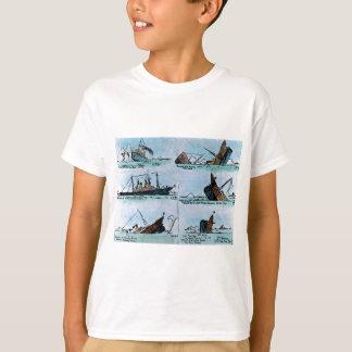 T-shirt RMS Titanic descendant la glissière de lanterne
